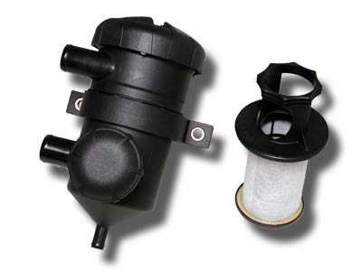 The ProVent® system integrates a powerful oil separator element and a pressure regulator element, both characterized by their robust and light-weight designs.